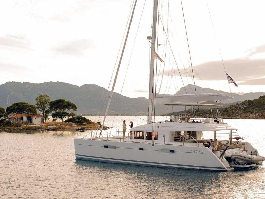 jachta na mori v Chorvátsku